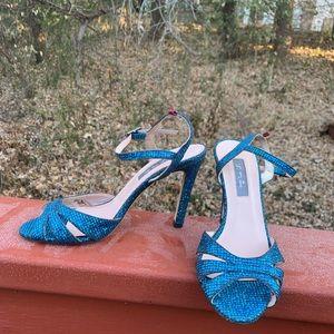 Sarah Jessica Parker cobalt glitter 6.5M heels